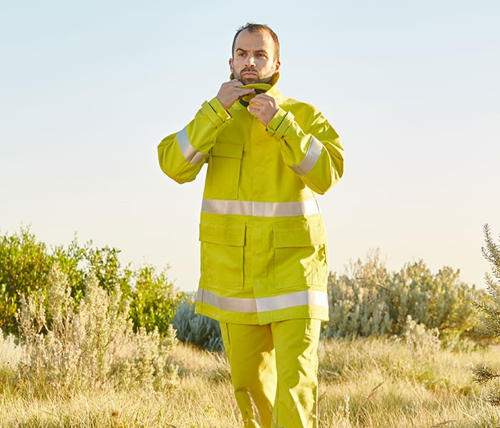NCC develop a two-piece firefighting garment specifically for Farm Firefighter